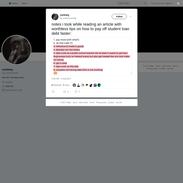 cortney on Twitter