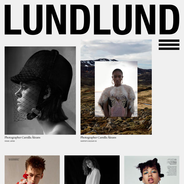 LundLund Agency representing the best Photographers, Stylists, Set Designers, Hair & Make Up, Casting Directors, Food Stylists & Illustrators.