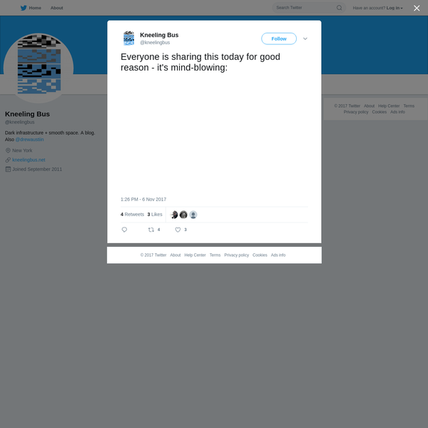 Kneeling Bus on Twitter