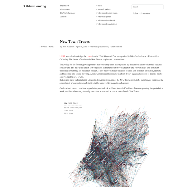 New Town Traces | ✳UrbanSensing