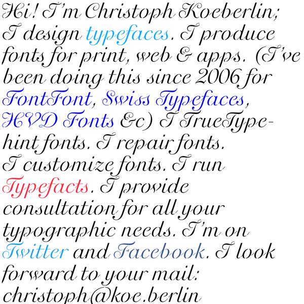 Christoph Koeberlin - Type Design & Font Engineering