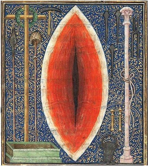 Wound of Jesus, or Eye of Sauron, or, The Vagina