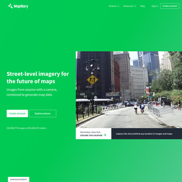Street-level imagery, powered by collaboration and computer vision