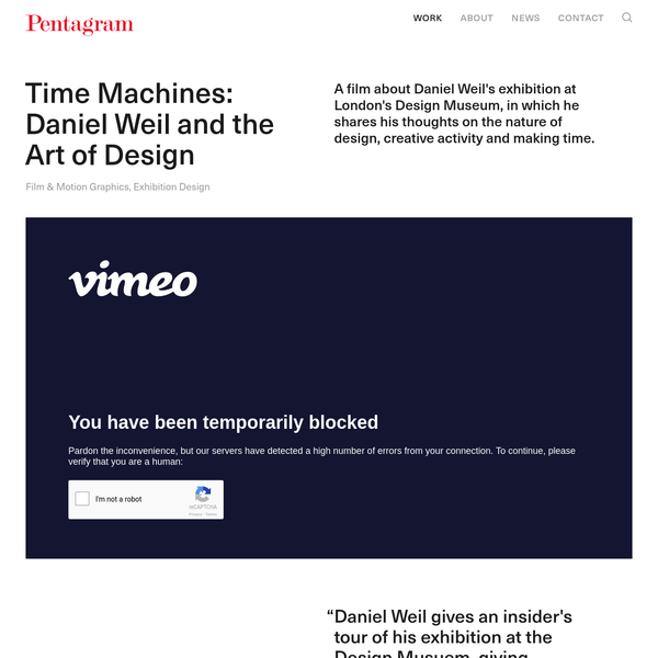 Time Machines: Daniel Weil and the Art of Design - Pentagram