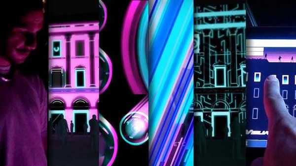 Interactive videomapping - Visual Sound Building - Tigrelab