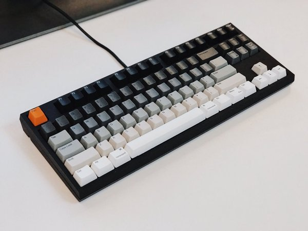 Gradient keyboard with an orange esc button