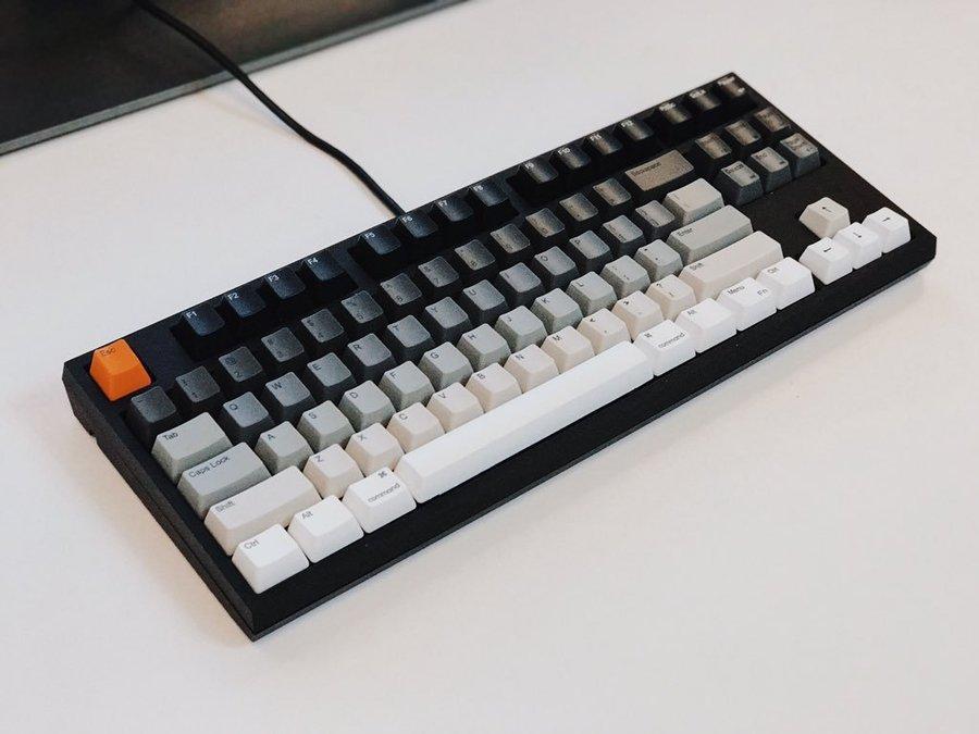 Gradient keyboard with an orange esc button
