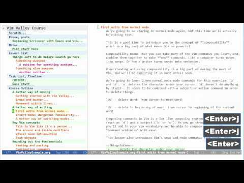 Replacing Scrivener with Emacs and Vim