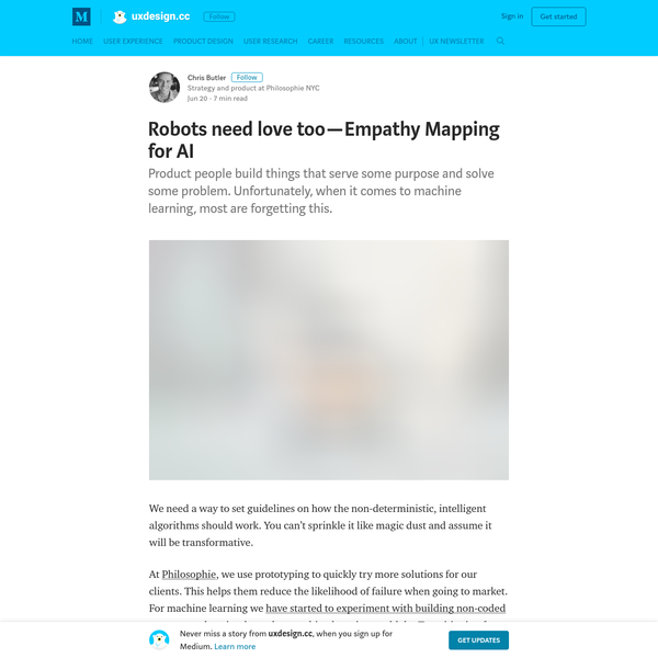 Robots need love too - Empathy Mapping for AI - uxdesign.cc