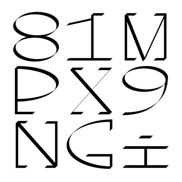 New monoTypeface Test #1 #typedesign #black #white #graphic #graphicdesign #type #typography #font #test #mono #monodpace #space #techno #letters #version