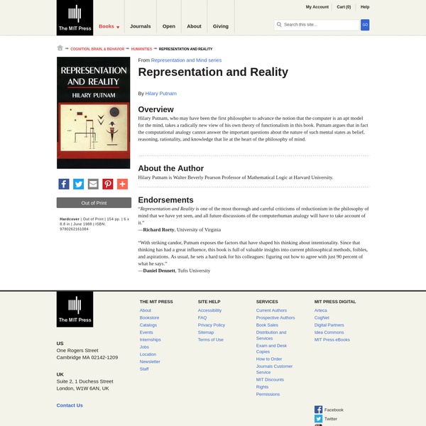 Representation and Reality
