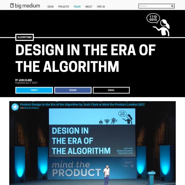 Design in the Era of the Algorithm | Big Medium