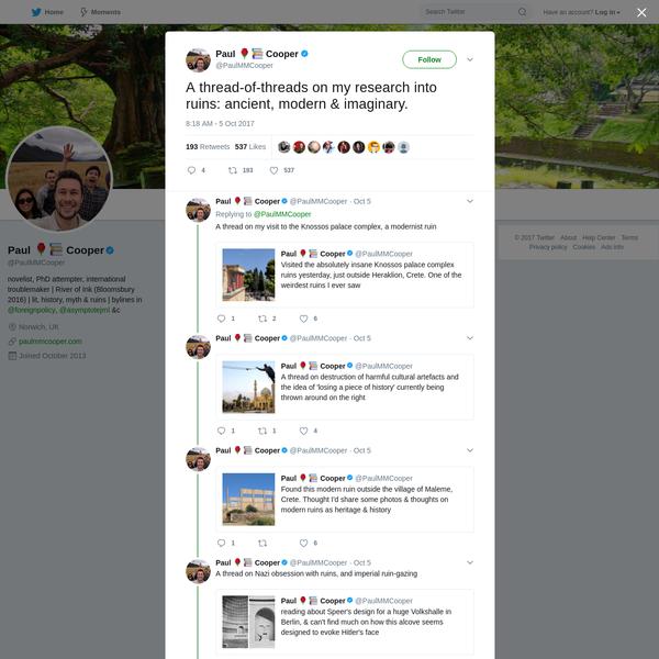 Paul 🌹📚 Cooper on Twitter