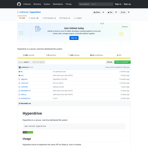 hyperdrive - Hyperdrive is a secure, real time distributed file system