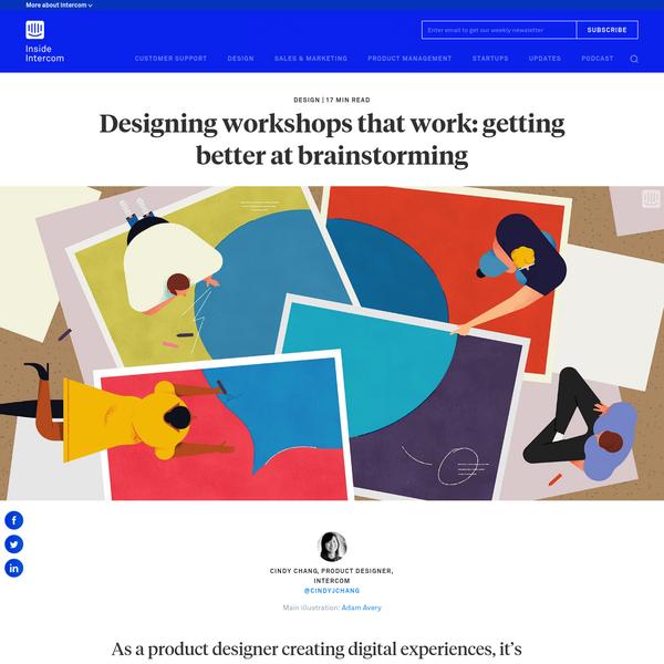 Designing workshops that work: getting better at brainstorming - Inside Intercom