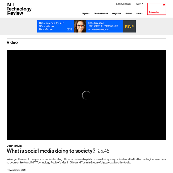 We urgently need to deepen our understanding of how social media platforms are being weaponized-and to find technological solutions to counter this trend.MIT Technology Review's Martin Giles and Yasmin Green of Jigsaw explore this topic.