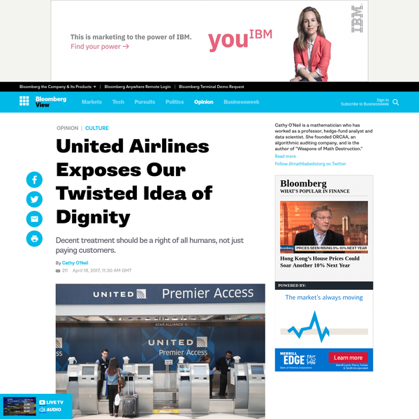 United Airlines Exposes Our Twisted Idea of Dignity