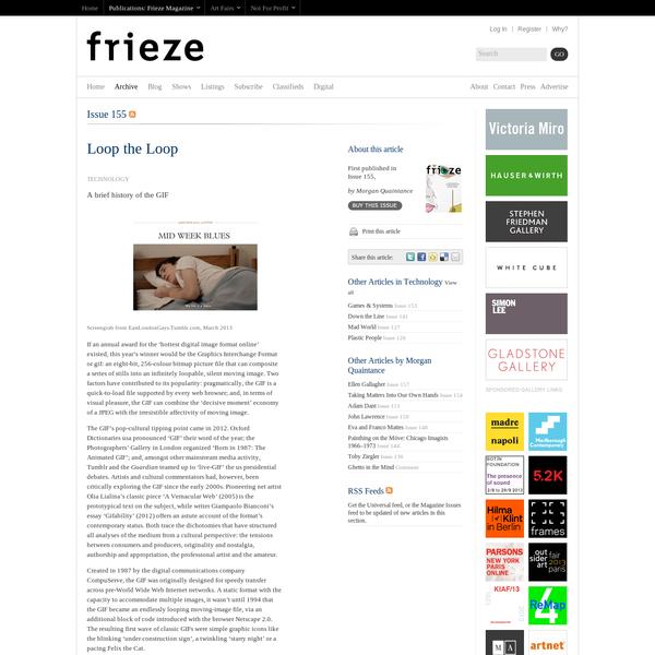 """frieze issue 155 """"Loop the Loop"""""""