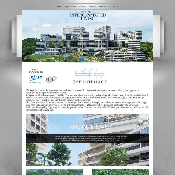 The Interlace - The Interlace, one of the largest and most ambitious residential developments in Singapore. Sale Enquiry Call +65 68158179
