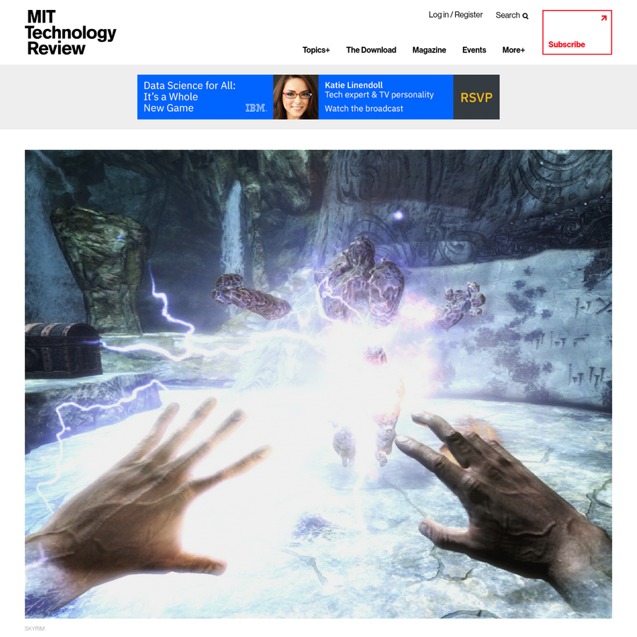 """SKYRIM Michael Cook, a 30-year-old senior research fellow at the University of Falmouth, has built an AI capable of imagining new video games from scratch. Cook calls the machine Angelina, a recursive acronym that stands for """"A Novel Game-Evolving Labrat I've Named Angelina"""" (a joke that Cook says got old pretty quickly)."""
