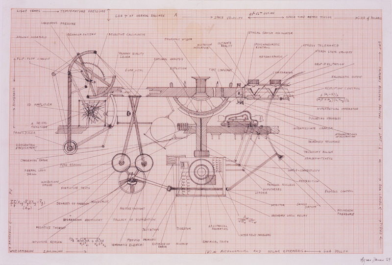 "Agnes Denes, ""Human Hang-up Machine"" 1969"