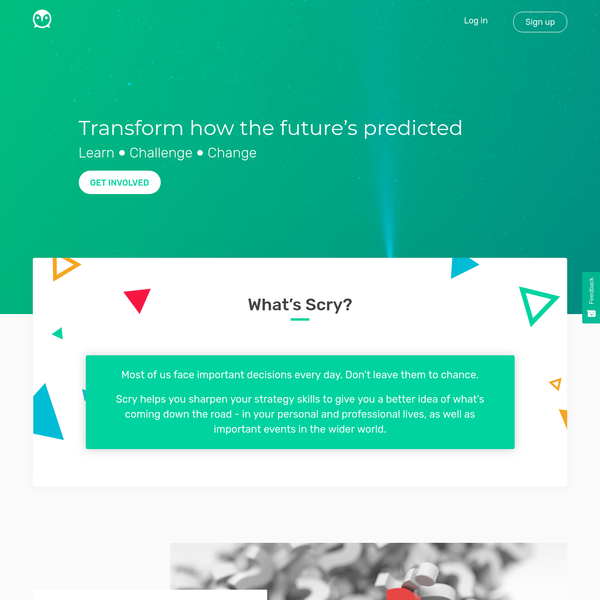 Scry - Transform how the future's predicted. Learn. Challenge. Change.