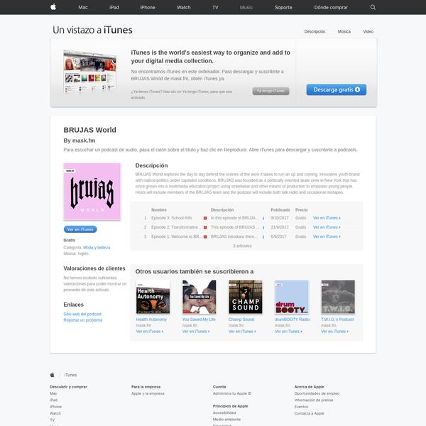 BRUJAS World de mask.fm en Apple Podcasts
