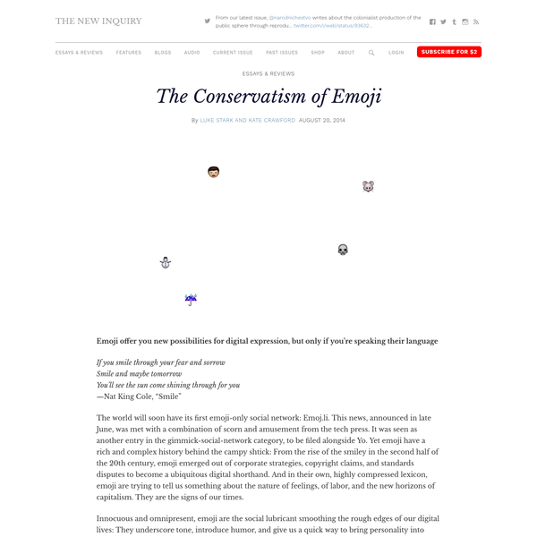 The Conservatism of Emoji