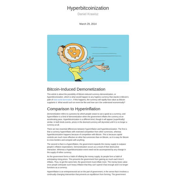 Hyperbitcoinization | Satoshi Nakamoto Institute