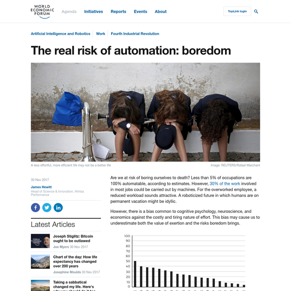 The real risk of automation: boredom