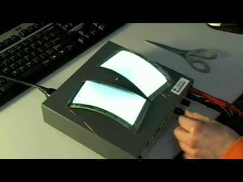 watch how an oled is cut in half and still works!