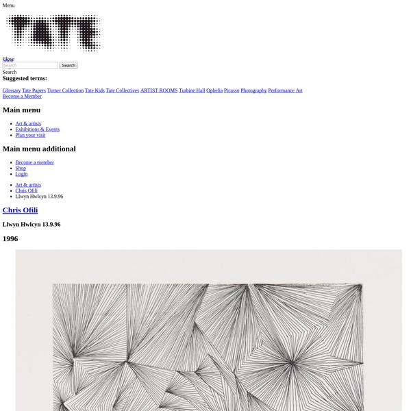 'Llwyn Hwlcyn 13.9.96', Chris Ofili, 1996 | Tate
