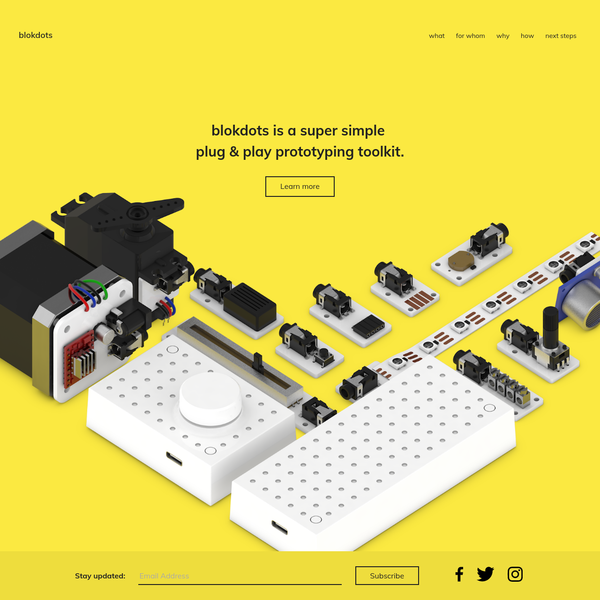 blokdots is a super simple plug & play prototyping toolkit.