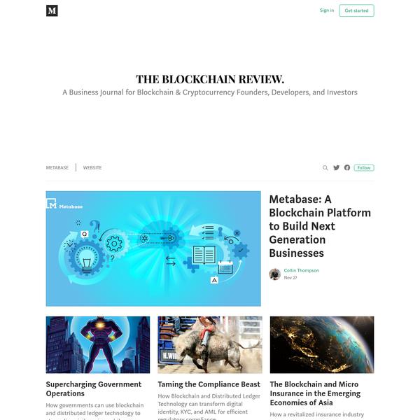 The Blockchain Review - Medium
