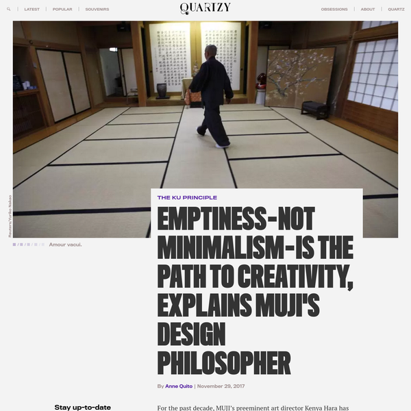 For the past decade, MUJI's preeminent art director Kenya Hara has been traveling the world to spread his philosophy of emptiness. At a time when we're bombarded by the 24/7 news cycle, back-to-back appointments, and the ceaseless stream of beeps and vibrations from the phones in our pockets, Hara's message on the virtue of utter blankness has never been more appealing.