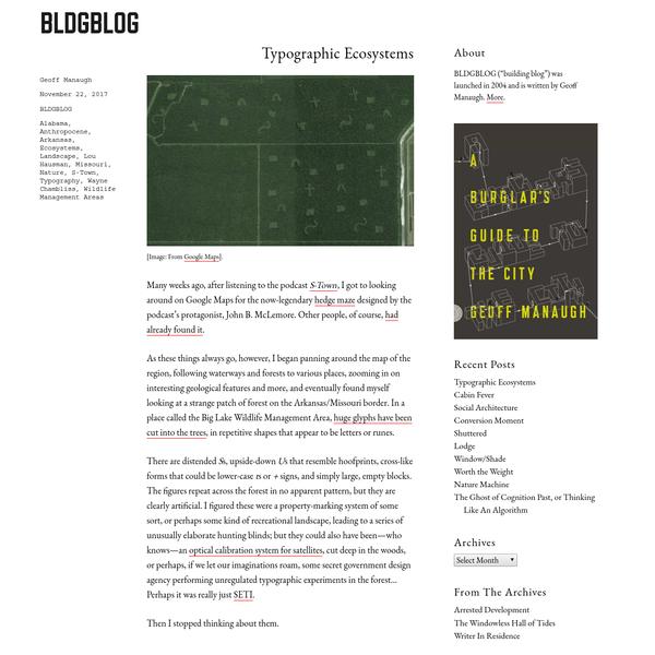 Typographic Ecosystems