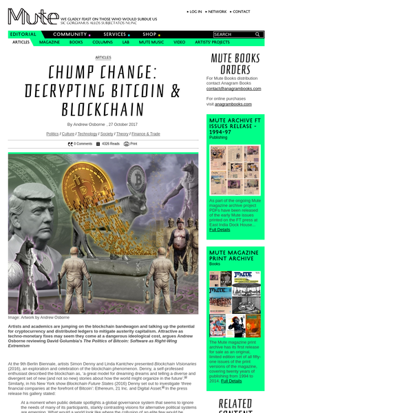 Chump Change: Decrypting Bitcoin & Blockchain