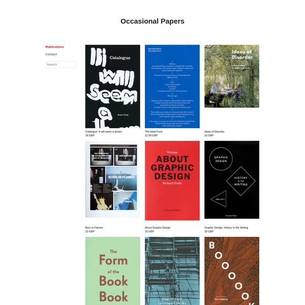 Independent non-profit publisher of affordable books devoted to the histories of architecture, art, design, film and literature.