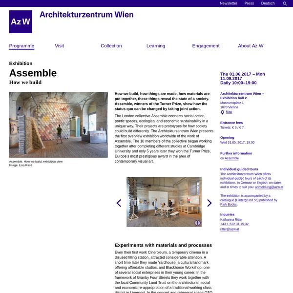 Exhibition: Assemble