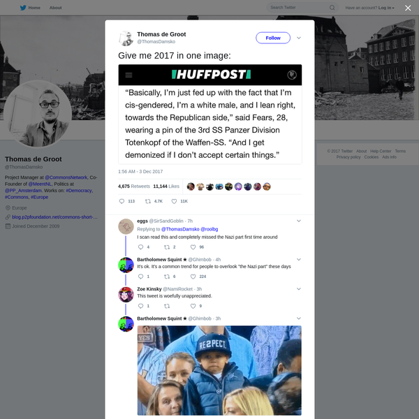 Thomas de Groot on Twitter