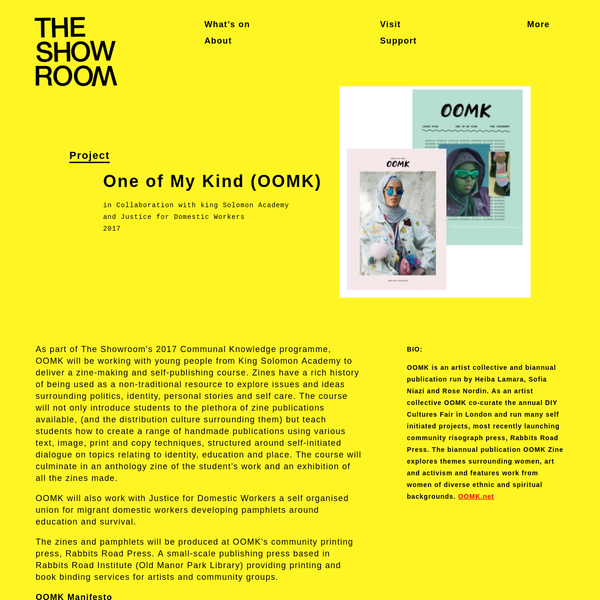 The Showroom | One of My Kind (OOMK)