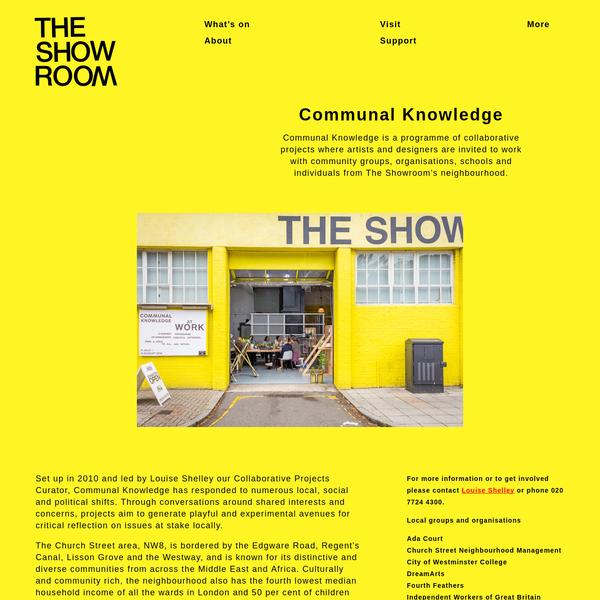 The Showroom | Communal Knowledge