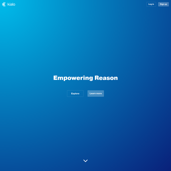 Kialo is the platform for rational debate. Empowering reason through friendly and open discussions.