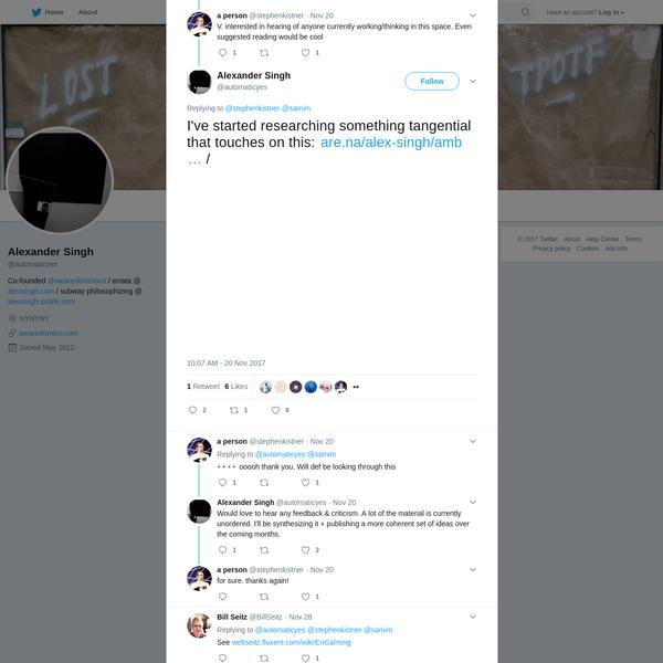 Alexander Singh on Twitter
