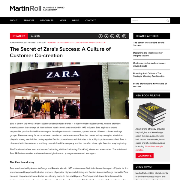 zara a successful brand Watch video warren buffett and bill gates are household names, but one of the men battling them for the top spot on the global billionaires list may have escaped your attention a self-made retail magnate who launched the spanish brand zara, amancio ortega briefly overtook the microsoft founder last week to.