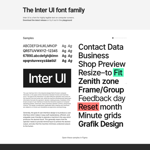Inter UI is a new typeface optimized for computer user interfaces