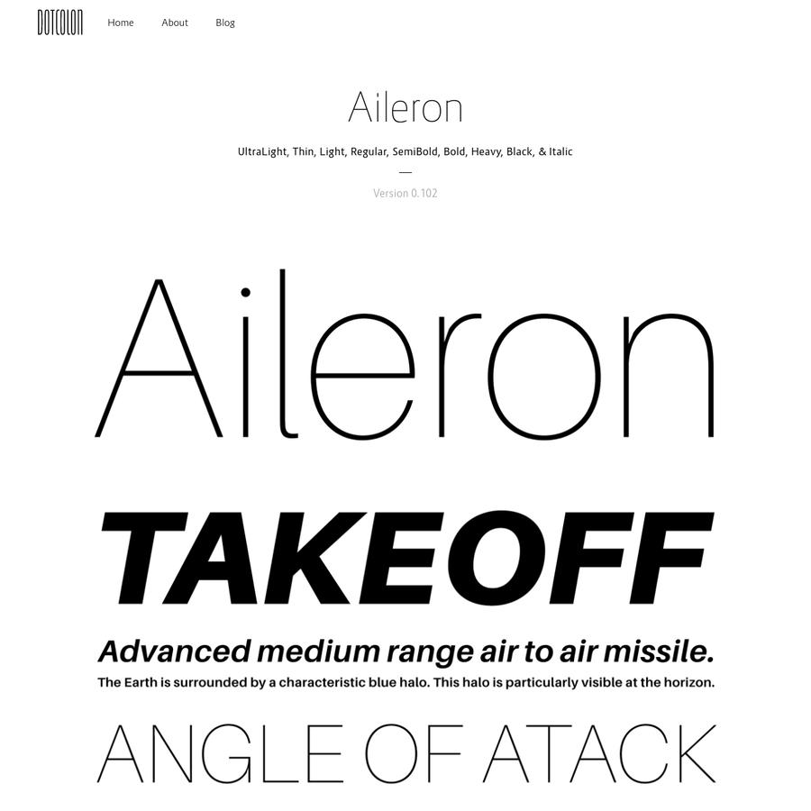 マルチプラットフォームでご利用頂ける、OpenTypeフォント「Aileron」のダウンロードページです。