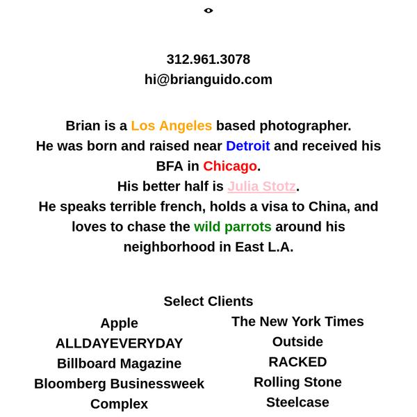 Info   Brian Guido