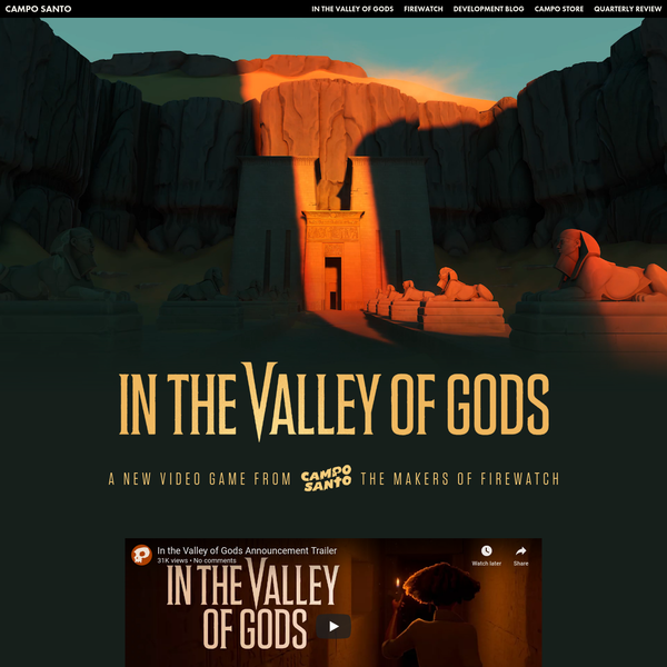 In the Valley of Gods - A New Video Game from Campo Santo