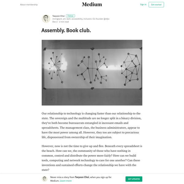Assembly. Book club. - Taeyoon Choi - Medium